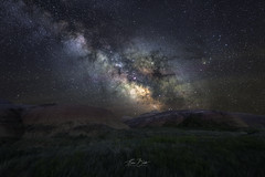 The Good in the Badlands. (Eden Bhatta) Tags: longexposure nightsky nightphotography nightscape thetaintedtripod badlandsnationalpark tracked milkyway southdakota southdakotaastrophotography southdakotanightsky blackhills