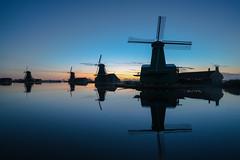 Blue lagoon (urbanexpl0rer) Tags: zaanseschans zaandam mills windmills bluehour reflections nederland holland dutch dutchlandscape tourism touristattraction