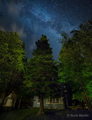 Cottage Milky Way (sugarzebra) Tags: nightsky night canon cottage muskoka rokinon milkyway