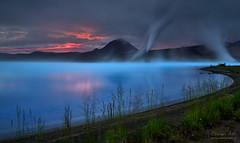 Lake Silica (orvaratli) Tags: iceland arctic summer phototour photo adventure geothermal mývatn arcticphoto blue midnightsun sunset lake silica explore north