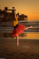 Dancing in the Light - Steffi Carter (Kent Freeman) Tags: steffi carter urban ballet canon eos 5d mark iii ef 85mm f18 usm oceanside california sunset sun set flashpoint streaklight 360 godox