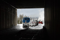 CZ and the Rotaries (CN Southwell) Tags: amtrak california zephyr donner pass rotary rotaries snow plow winter mountains steam