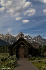 Pay Your Respects_T3W0112 (Alfred J. Lockwood Photography) Tags: alfredjlockwood nature landscape grandtetonnationalforest chapeloftransfiguration building moonlight nightsky clouds stars mountains summer wyoming grandtetonnationalpark rockymountains