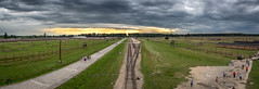 Auschwitz II–Birkenau panorama view (mpakarlsson) Tags: flickrbestpics auschwitz birkenau poland nazi camp krakow history last stop train tracks 5diii 5dm3 5dmark3 5dmarkiii panorama llens canon 24105 tourism view clouds sky sun light