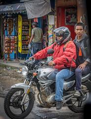Guatemalan primary transportation (Pejasar) Tags: street candid guatemala antigua motorcycle store motorbike