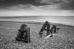 Coastal Relic (J. Webb) Tags: beach pebble pebbles kent dungeness sea seawall old broken worn england