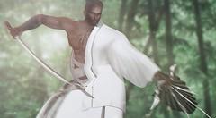 Warrior. (♛ Mr. Metaverse – Curaçao 2018.) Tags: bauhausmovement mrmetaverse–curaçao2018 warrior catwa sword loulouteichmannbauhausmovement secondlife sl photoshop piercekaru photomanipulation ps