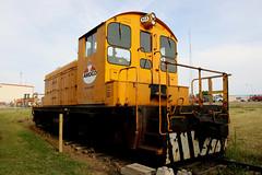 Amoco Swithcer #555 (Laurence's Pictures) Tags: north dakota railroad museum train railway transportation freight bismarck burlington northern pacific soo line historic car