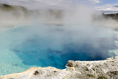 Blue Geyser (rschnaible) Tags: yellowstone national park us usa west western wyoming outdoor sightseeing tour tourist landscape hot spring geyser blue