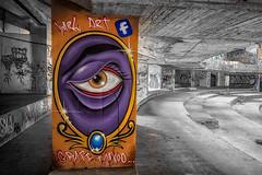 Graffiti im Es Foguero Palace (PhotoChampions) Tags: lostplace abandoned decay rotten graffiti spain spanien balearen bnw urbex urban