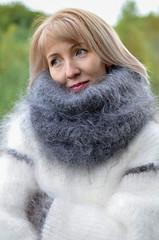33b151157b4045773ed2b7cbf175073b (ducksworth2) Tags: knit knitwear mohair sweater jumper fluffy fuzzy soft poloneck turtleneck