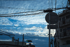 SKYBLUE (Arbit Bamboo0101) Tags: clouds color contax α7ii sonyalpha sony digital city carl zeiss planar 245 t 45mm planar245 town light a7ii blue urban cityscape bleu cloud sky a72 alpha72 f2 osaka japan downtown carlzeissplanar245t carlzeiss