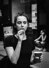 ,,.. (dagomir.oniwenko1) Tags: life london england edis08edis08 street smoking face female flickr smirnoff blackandwhite bw mono humans portrait person portret people portraits ritratto retrato woman women expression