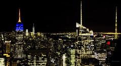 Top of the rock I (gatetegris) Tags: topoftherock rockefellercenter newyork nuevayork nigth nocturna newyorknewyork lights buildings empirestate empirestatebuilding centralpark city usa eeuu hm