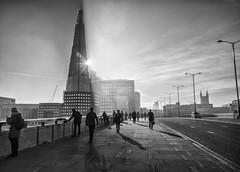 London bridge (keith ellwood) Tags: london bridge light commuters shard shadows
