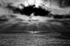 Sailing - Tel-Aviv beach (Lior. L) Tags: sailingtelavivbeach sailing telaviv beach sailboat sailboats sail telavivbeach israel clouds cloudysunset sunsetintelavivbeach sunset spotlights spot travel travelinisrael monochrome blackandwhite blackwhite
