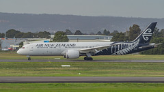 Air New Zealand B787-9 ZK-NZC (Anthony Kernich Photo) Tags: airplane aircraft airplanepicture airplanephotograph airplanephoto adelaide adelaideairport closeup zoom longlens plane aviation jet olympusem10 olympus olympusomd commercialaviation planespotting planespot aeroplane flight flying airline airliner kadl kpad adl airport raw anz airnewzealand ypad livery star zknzc boeing 787 dreamliner boeing787 7879 boeing7879 widebody