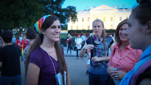 Danica Roem at the 2017.07.26 Protest Trans Military Ban, White House, Washington DC USA 7684