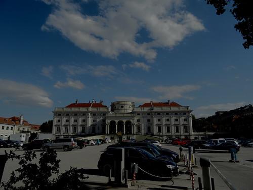 Wien, 3. Bezirk (Schloss - Zamek - Schwarzenberg), Palacio de Schwarzenberg, Schwarzenberg Palace, Palazzo di Schwarzenberg, le Palais de Schwarzenberg (Schwarzenbergplatz/Prinz-Eugen-Straße/Rennweg)