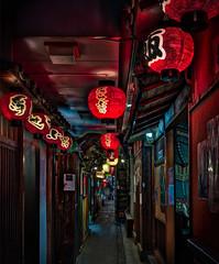 Osaka Backstreet (Stuck in Customs) Tags: japan osaka stuckincustomscom treyratcliff rcmemories street hdr hdrtutorial hdrphotography x1d hasselblad night lights lantern path