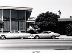 Menlo Park 1968: Santa Cruz Avenue - North Side, front (menloparkplanning) Tags: mp1968downtownecr menlopark sanmateocounty california downtown santacruzavenue santacruzave 1968 historicalphoto historical scannedphoto