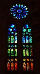 Sagrada Familia - Vitrail (short Explore) (chriskatsie) Tags: eglise barcelone vitrail stainedglass couleur color light church