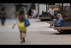 contemplating (Jovan Jimenez) Tags: contemplating cinematic people walking siting thinking bokeh nikon series e lens manual focus seriese eseries girl curvy chicago sony ilce alphya a6500 6500 100mm f28 tilt shift tiltshift street woman anamorphic butt yellow kipon adapter vintage optical mirrorless dof widescreen 16x9 streetphotography