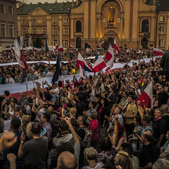 Krasicki place sunday's portest - highest court. (agustowski) Tags: warsaw protests courtindependency poland