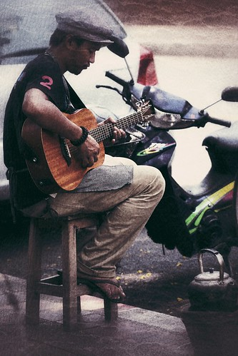 Street coffee music
