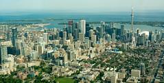 Toronto Skyline from a Cessna 170 (Dave_Senior) Tags: dave senior davesenior nikon d7100 nikond7100 nikkor toronto cntower torontoskyline 18200mmf3556gvrii buildings skyscrapers urban lake lakeontario ontario skydome flying cessna c170