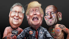 donaldtrump mitchmcconnell paulryan republican gop healthcare wealthcare donkeyhotey photoshop caricature cartoon face politics political photo manipulation photomanipulation commentary politicalcommentary campaign politician caricatura karikatuur karikatur