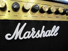 Well Played (IMHILL) Tags: marshall amplifier music electricguitar amp speaker logo grille volume bass controls dials knob noise