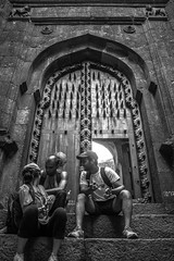 (ajinkyagosavi) Tags: landscape india colors travel maharashtra canon shivaji forts raigad bnw monochrome door doorway castle