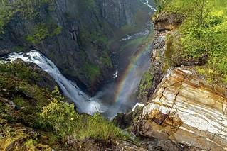 Voringfossen water fall. Eidfjord, Norway