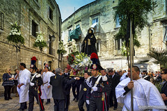 Procession of the Mysteries, Bari, Southern Italy (EVERY SO OFTEN) Tags: goodfriday parade bari southernitaly religion catholic roman rc church traditional easter street town texture people italian outdoors colour landscape spring old buildings devotion celebration saint virgin mary christian processionofthemysteries