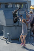 Kids On Tallinn Maritime Days 2017 On Seaplane Harbour (Estonian Maritime Museum) (AudioClassic) Tags: antiaircraft gun sea vessel ship yacht ocean boat nautical sailboat transportation yachting tall wind cruise navigation transport rigging wooden marine travel regatta maritime sport sailing sky sail historic mast rope vintage blue old detail equipment wood navy deck frigate tackle water antique adventure pirate freedom boating race romantic crew speed team line waves tallship construction ancient ladder timber outdoor explorer luxury windy voyage shipping vehicle sailingship anchor sailor captain tide closeup