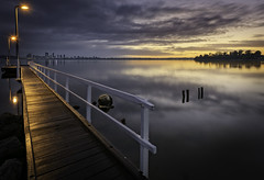 Applecross Jetty (JChipchase) Tags: perth applecross jetty river sunrise westernaustralia nikon d750 clouds sky