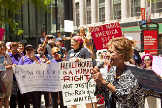 Congresswoman Jan Schakowsky Illinois 9th District Our Lives Are on the Line Health Care Rally Chicago 7-29-17 2035