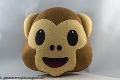 Icono Whatsapp (El Gato sobre el Tejado) Tags: felt fieltro whatsapp mono monkey manualidades crafts handmade hechoamano peluche plush icono emoji