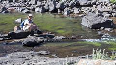 Marjon at the river (Hans van der Boom) Tags: holiday vacation southafrica lesotho zuidafrika semonkong maseru people marjon maletsunyaneriver lso