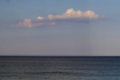 Cloud Shadows (brucetopher) Tags: water cloud sunset ocean blue sea light puffy shadow ray sun banding wave ripples breeze horizon coast seacoast coastal minimal