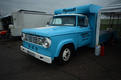 (Sam Tait) Tags: dragstalgia santa pod raceway nostalgia classic retro car sweden swedish gasser sharp teeth hauler truck flat bed dodge
