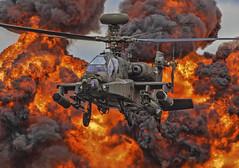 AgustaWestland AH-64D Apache (urkyurky) Tags: apache ah64 ah64d longbow wattisham rafwattisham ugly gunship aac apachedisplayteam riat riat2017 flames helicopter action aviation aircraft airtattoo raffairford agustawestlands leonardo rotors