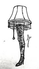 Woman lamp (javiermuno) Tags: lamp light art design draw drawing typographic pen ink bw monochrome legs leg rare unique