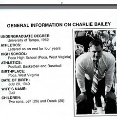Charlie Bailey Memphis St Football (Jbsbbailey) Tags: memphis state charlie bailey tigers football 1986 1987 1988 ray craft rick tricket liberty bowl darrell dickey florida alabama emmitt smith ole miss mississippi johnny majors tennessee