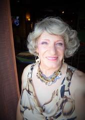 Old Woman In Bright Sun (Laurette Victoria) Tags: woman laurette milwaukee necklace