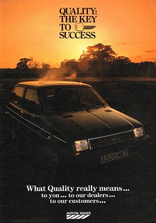 Austin Rover Quality internal booklet 1983 00
