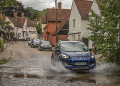 Ford in a Ford at Kersey (Tony Smith Photo's) Tags: ford kersey suffolk eastanglia water river picturesque scenic village quaint uk fordinford fordinriver carinford carinriver historicvillage canon eos70d