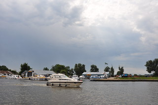 Boats on the River Bure at Acle Bridge