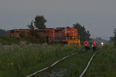 Shift Change (Joseph Bishop) Tags: rlhh 3403 emd sd402 nanticoke cnhagersvillesubdivision trains train track tracks railfan railroad railway rail rails